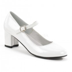 Schoolgirl White Mary Jane Pump ShoeOodles Shoes for Women, Men and Children  Oodles of Shoes for Men, Women & Children