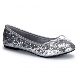 Star Silver Glittered Ballet Flat ShoeOodles Shoes for Women, Men and Children  Oodles of Shoes for Men, Women & Children