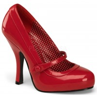 Cutie Pie Red Mary Jane Pin Up Pumps