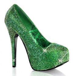 Teeze Green Iridescent Rhinestone Platform Pump ShoeOodles Shoes for Women, Men and Children  Oodles of Shoes for Men, Women & Children
