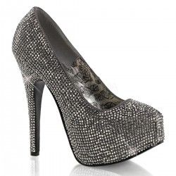 Teeze Pewter Rhinestone Platform Pump ShoeOodles Shoes for Women, Men and Children  Oodles of Shoes for Men, Women & Children
