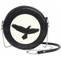 Raven Moon Round Shoulder Bag