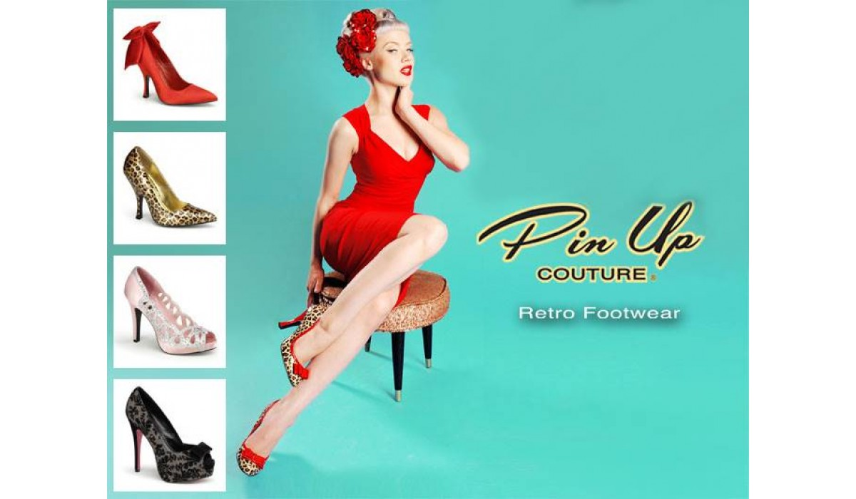 Pin Up Retro ladies footwear by Pleaser USA