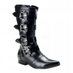 Skull and Bone Buckle Brogue Mens Mid Calf Boot at ShoeOodles Shoes for Women, Men and Children,  Oodles of Shoes for Men, Women & Children