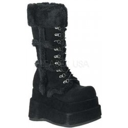 Bear Faux Fur Black Womens Boots