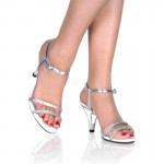 Belle Rhinestone Silver Sandal - Size 11 at ShoeOodles,  Oodles of Shoes for Men, Women & Children