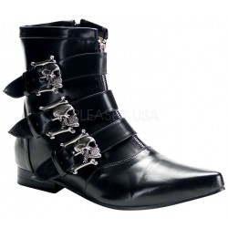 Skull Buckle Brogue Ankle Boot ShoeOodles Shoes for Women, Men and Children  Oodles of Shoes for Men, Women & Children