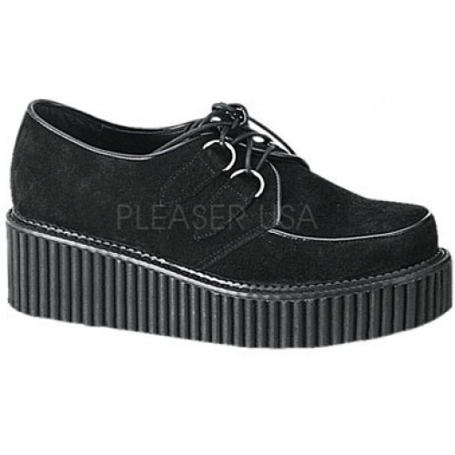 Black Suede Womens Creeper at ShoeOodles Shoes for Women, Men and Children,  Oodles of Shoes for Men, Women & Children