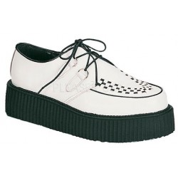 White Leather Mens Creeper Loafer