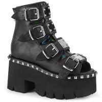 Ashes Womens Black Platform Sandal