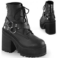 Assault Wrapped Block Heel Womens Combat Boot