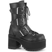 Ranger Buckled Black Combat Boots
