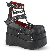 Bear Black Caged Ankle Boots