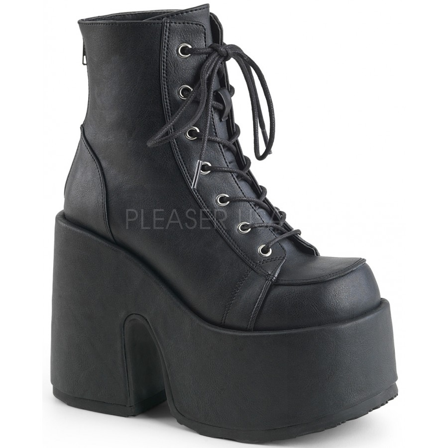 preview of exclusive deals low cost Black Matte Chunky Platform Ankle Boots  Gothic Boots for Women