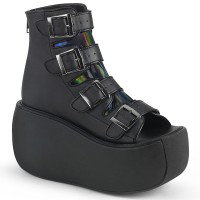 Violet Peep-Toe Ankle Boots for Women