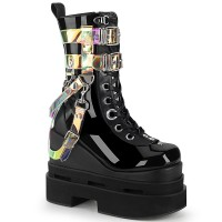 Eternal Black Magic Mirror Gothic Boots