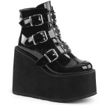 Black Patent Swing 105 Platform Ankle Boot at ShoeOodles Shoes for Women, Men and Children,  Oodles of Shoes for Men, Women & Children