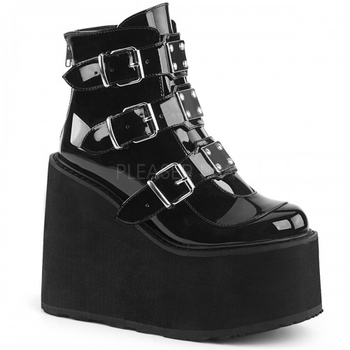 Black Patent Swing 105 Platform Ankle Boot