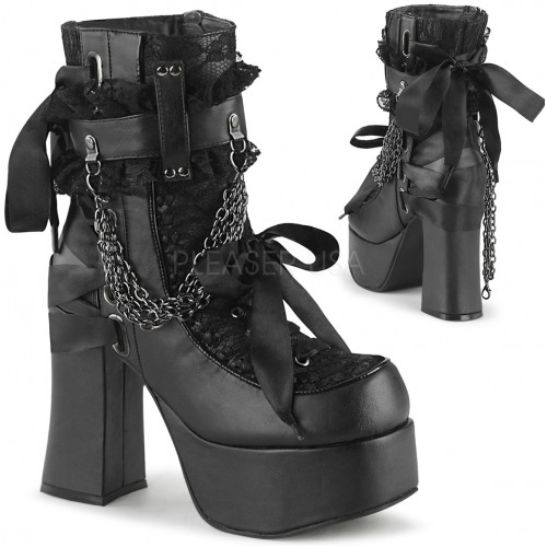Charade Lace Accent Ankle Boots at ShoeOodles Shoes for Women, Men and Children,  Oodles of Shoes for Men, Women & Children