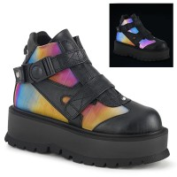Slacker Rainbow and Black Womens Ankle Boots