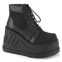 Stomp Black Womens Platform Sneaker