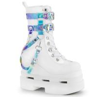 Eternal White Magic Mirror Gothic Boots
