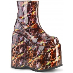 Slay Burgundy Lightning Hologram Platform Ankle Boot ShoeOodles Shoes for Women, Men and Children  Oodles of Shoes for Men, Women & Children