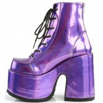 Purple Hologram Chunky Platform Boots at ShoeOodles Shoes for Women, Men and Children,  Oodles of Shoes for Men, Women & Children