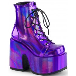 Purple Hologram Chunky Platform Boots ShoeOodles Shoes for Women, Men and Children  Oodles of Shoes for Men, Women & Children