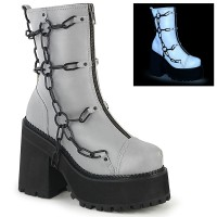 Assault Chained Grey Womens Combat Boot