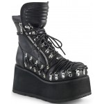 Clash Corseted Womens Motorcycle Boots at ShoeOodles,  Oodles of Shoes for Men, Women & Children