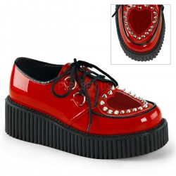 Heart Vamp Studded Womens Creeper in Red ShoeOodles Shoes for Women, Men and Children  Oodles of Shoes for Men, Women & Children