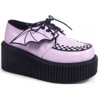 Bat Wing Womens Pink Creeper 205 Gothic Shoe