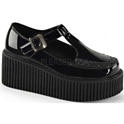 Platform T-Strap Black Creeper for Women ShoeOodles Shoes for Women, Men and Children  Oodles of Shoes for Men, Women & Children