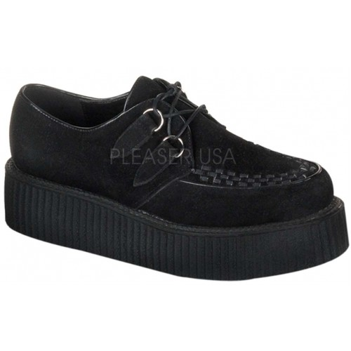 Black Suede Mens Creeper Loafer at ShoeOodles Shoes for Women, Men and Children,  Oodles of Shoes for Men, Women & Children