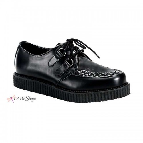 Mens Black Leather Creeper Loafer at ShoeOodles Shoes for Women, Men and Children,  Oodles of Shoes for Men, Women & Children
