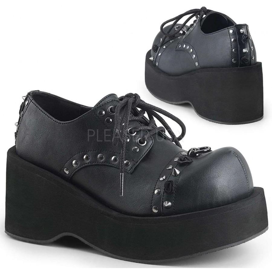 707ae033d99 Dank Womans Black Platform Oxford Shoe