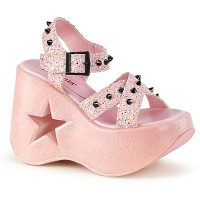 Dynamite Star Womens Platform Candy Pink Sandal