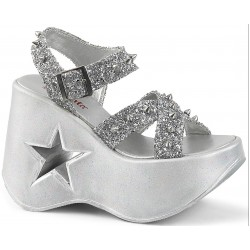 Dynamite Star Womens Platform Silver Sandal ShoeOodles Shoes for Women, Men and Children  Oodles of Shoes for Men, Women & Children