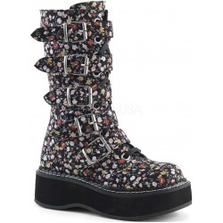 Emily Floral Print Mid-Calf Boot ShoeOodles Shoes for Women, Men and Children  Oodles of Shoes for Men, Women & Children