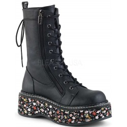 Emily Floral Platform Mid-Calf Boot ShoeOodles Shoes for Women, Men and Children  Oodles of Shoes for Men, Women & Children