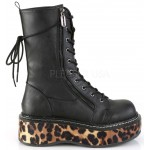Emily Leopard Platform Mid-Calf Boot at ShoeOodles Shoes for Women, Men and Children,  Oodles of Shoes for Men, Women & Children