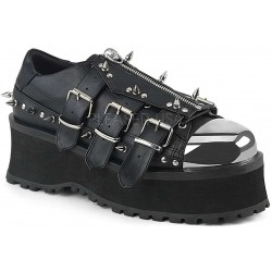 Gravedigger Mens Spiked Platform Oxford Shoe