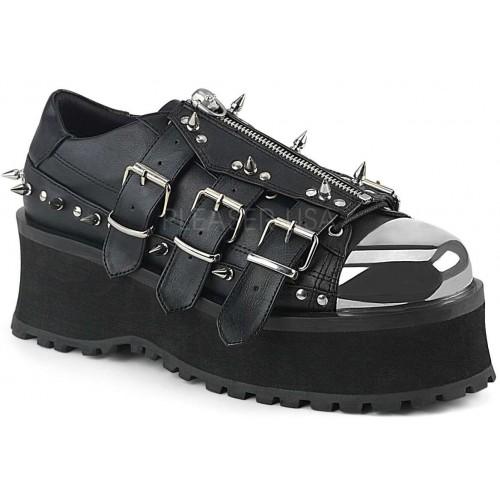 Gravedigger Mens Spiked Platform Oxford Shoe at ShoeOodles Shoes for Women, Men and Children,  Oodles of Shoes for Men, Women & Children