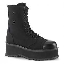 Gravedigger Mens Black Canvas Ankle Boots ShoeOodles Shoes for Women, Men and Children  Oodles of Shoes for Men, Women & Children