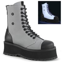 Gravedigger Mens Grey Ankle Boots