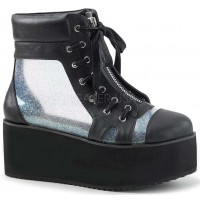 Grip 102 Platform Ankle Boot with Holographic Panels