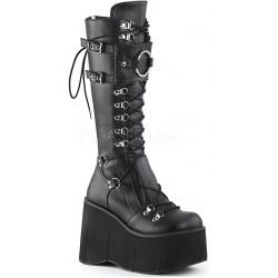 Kera Black Platform Knee High Buckled Boots ShoeOodles Shoes for Women, Men and Children  Oodles of Shoes for Men, Women & Children