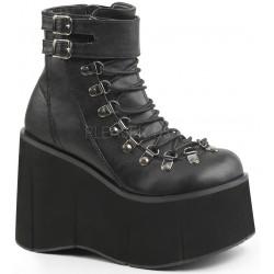 Kera Black Platform Ankle Boots