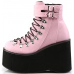 Kera Pink Platform Ankle Boots at ShoeOodles Shoes for Women, Men and Children,  Oodles of Shoes for Men, Women & Children